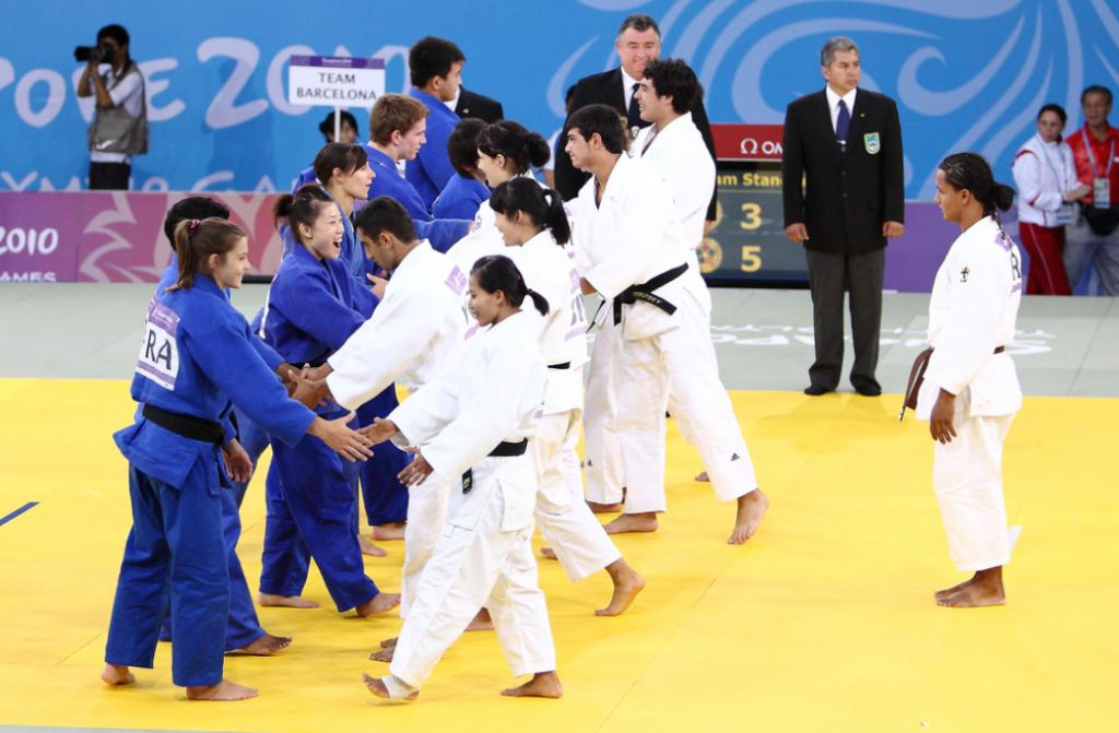 Judo team event brings nations together