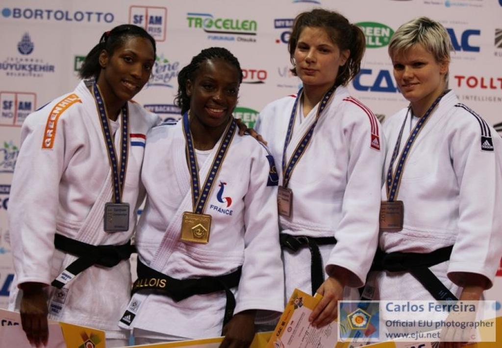 Emane wins third European title