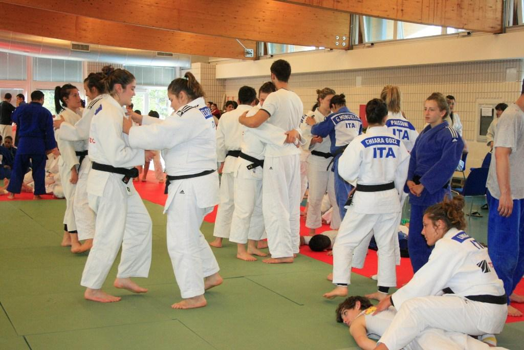Olympic athletes at EJU training camp in Lignano
