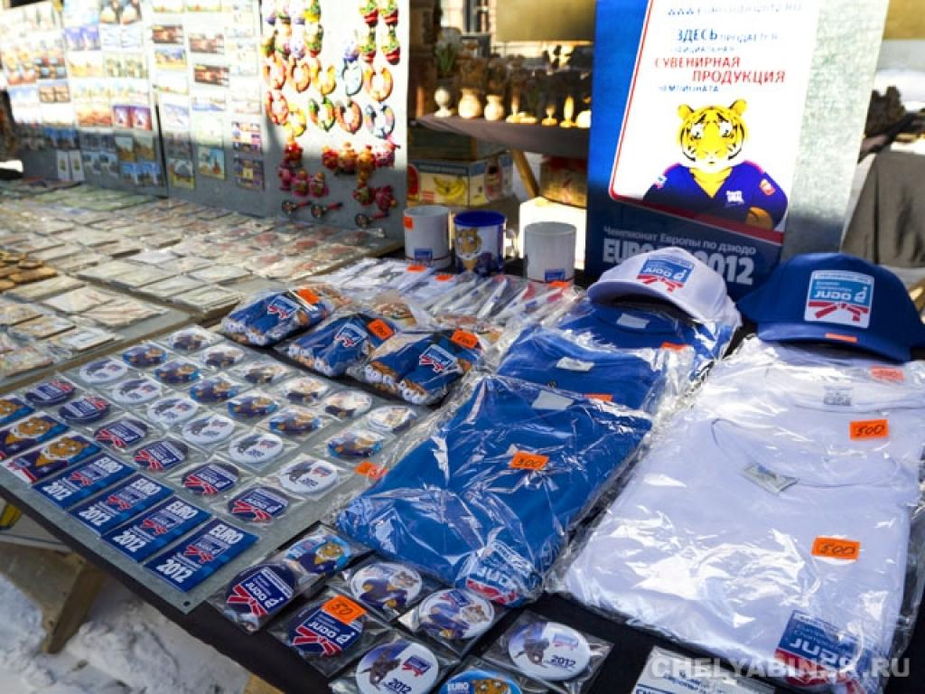 The souvenirs with symbols of Euro2012 go on sale in Chelyabinsk