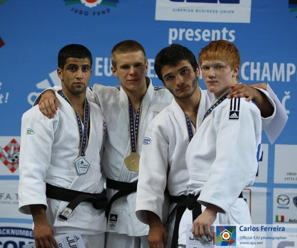 Polish Damian Szwarnowiecki wins gold medal U73kg
