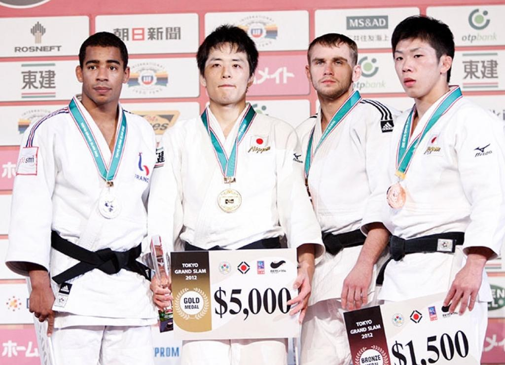 Japan claims all five gold medals at first day of Grand Slam Tokyo