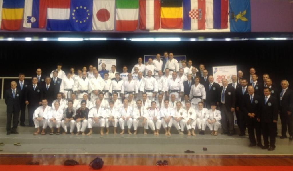 Shoji Sugiyama awarded at EJU Kata Tournament in Pordenone