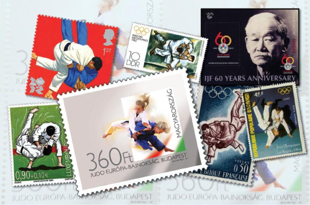 Judo post stamp of Judo European Championships