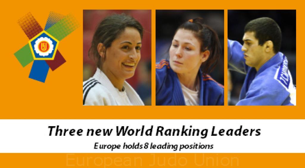 Europe celebrates three new World Ranking leaders