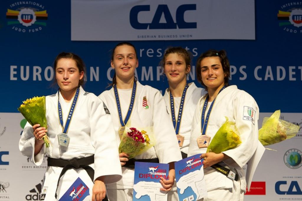 Historic medals at second day European Championships Cadets