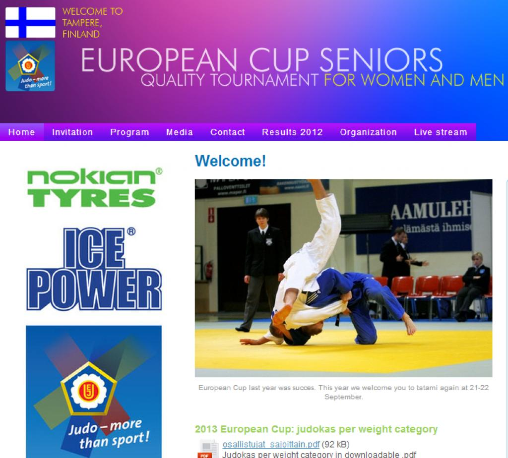 145 athletes fighting at European Cup in Tampere