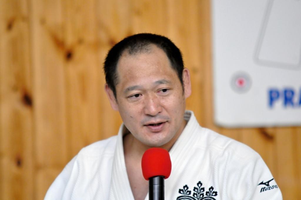 Hirotaka Okada teaches the essence of judo