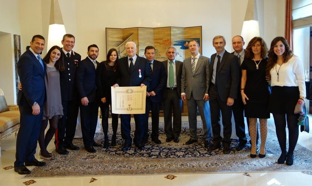 Italian Franco Capelletti awarded as chevalier of Japan