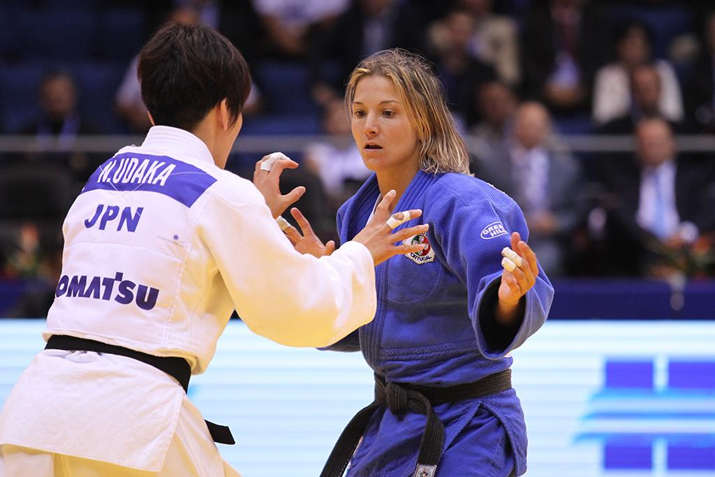 PORTUGAL'S TELMA MONTEIRO SETTLES FOR SILVER NUMBER FOUR