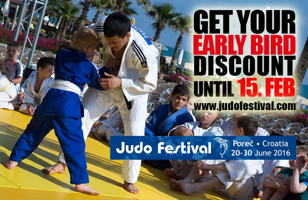 TAKE YOUR CHANCE - EARLY BIRD DISCOUNT FOR JUDO FESTIVAL