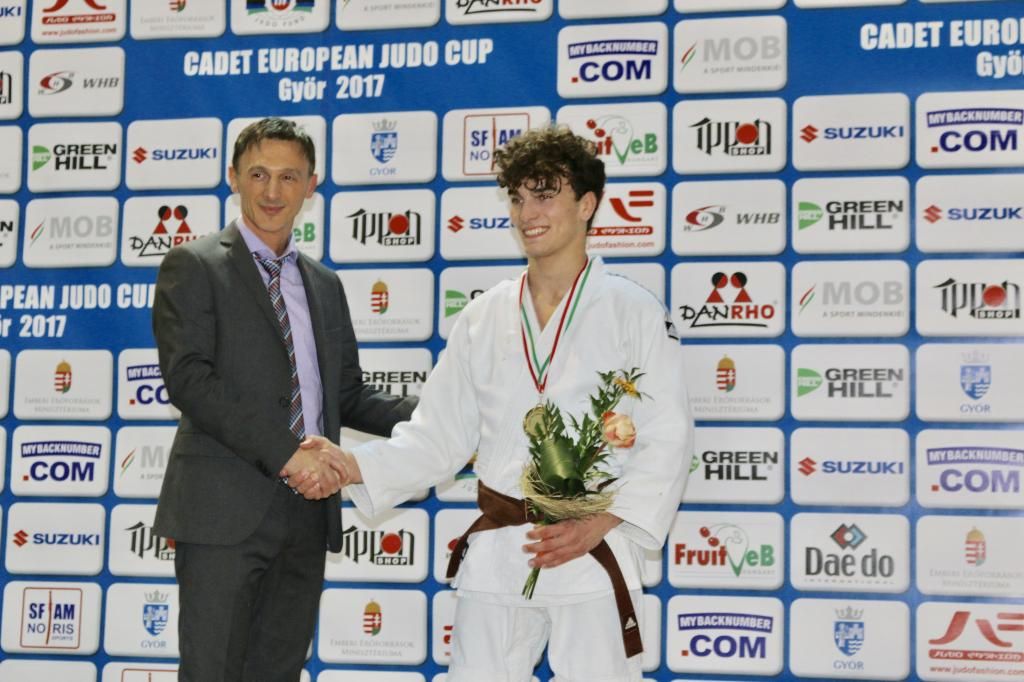 FIRST CADET GOLD MEDAL SHINES LIKE A DIAMOND FOR MACEDONIA