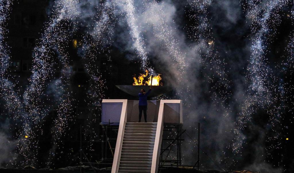 BOSNIA AND HERZEGOVINA'S BEST ATHLETE LIGHTS OLYMPIC FLAME