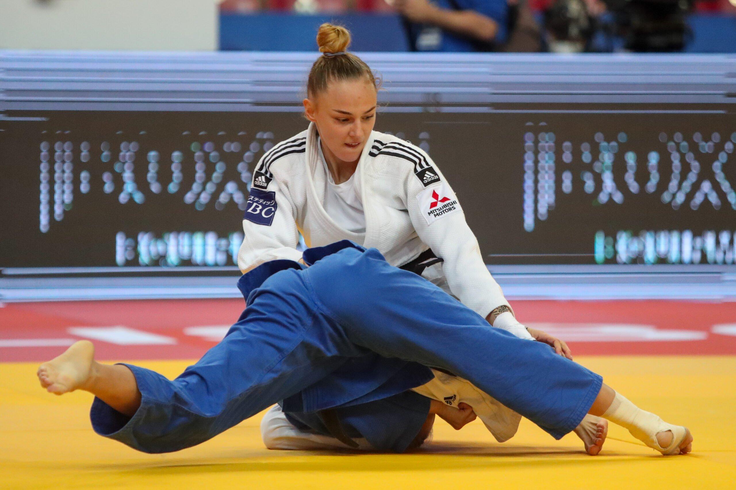 World Champion Daria Bilodid (UKR) is wearing adidas